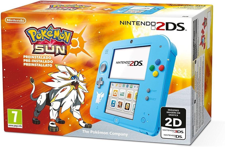 Nintendo 2DS - Consola, Color Azul + Pokémon Sol (Preinstalado ...