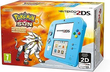 Nintendo 2DS - Consola, Color Azul + Pokémon Sol (Preinstalado): Amazon.es: Videojuegos