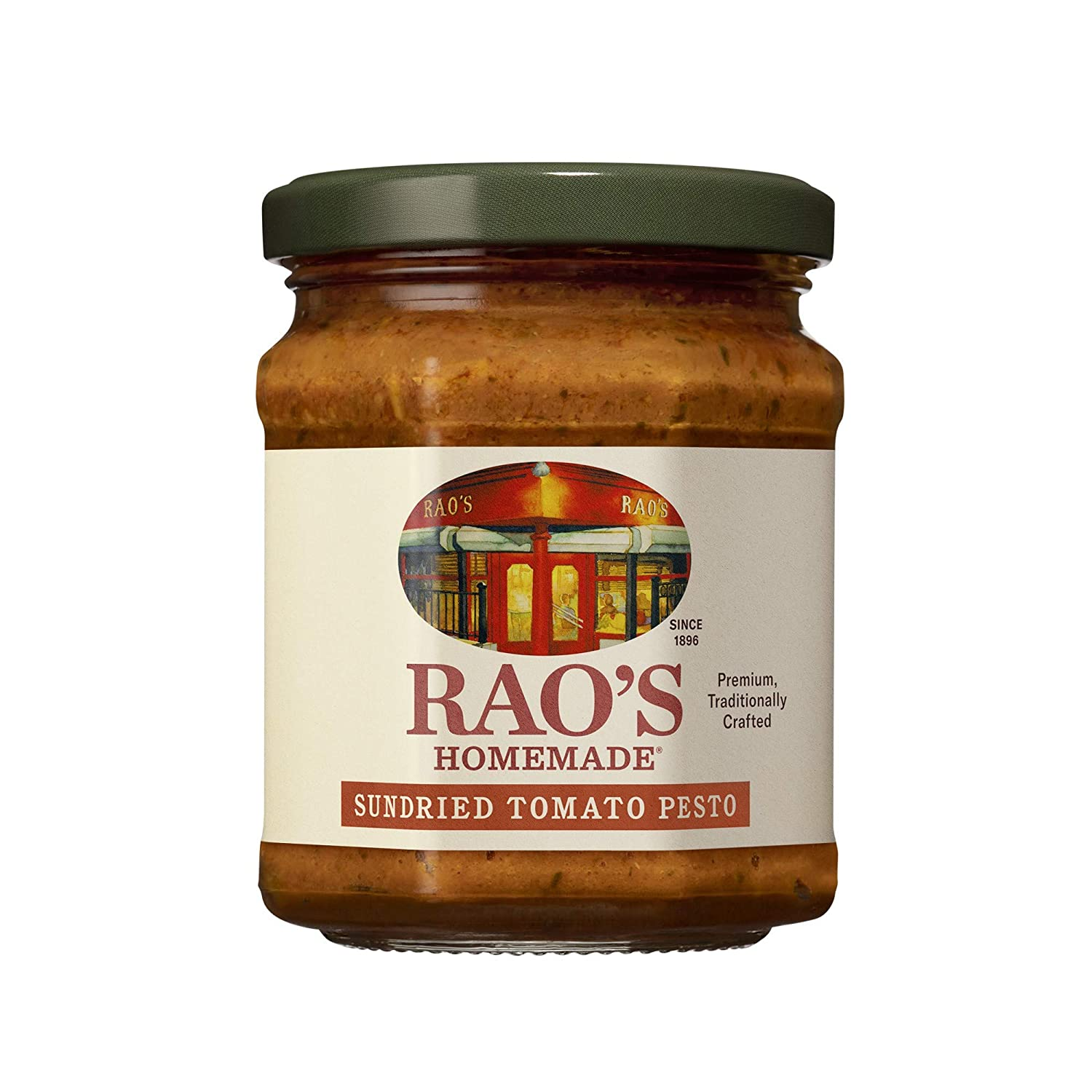 Rao's Homemade Sundried Tomato Pesto Sauce   6.7 oz   Premium Quality   Made With Sun Dried Tomatoes, Tomato Pulp, Oil, Cheese & Nuts