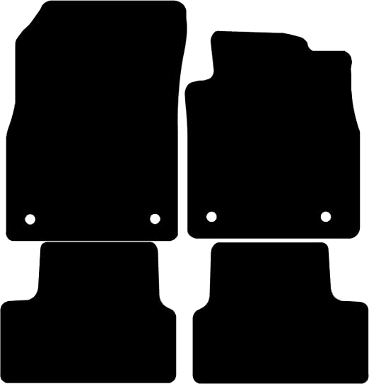 for Touareg Connected Essentials 5006300 Tailored Heavy Duty Custom Fit Car Mats Black with Black Trim Deluxe 2002-2009