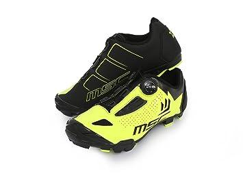 MSC Bikes Aero XC Zapatillas Ciclismo, Amarillo, T-44: Amazon.es: Deportes y aire libre