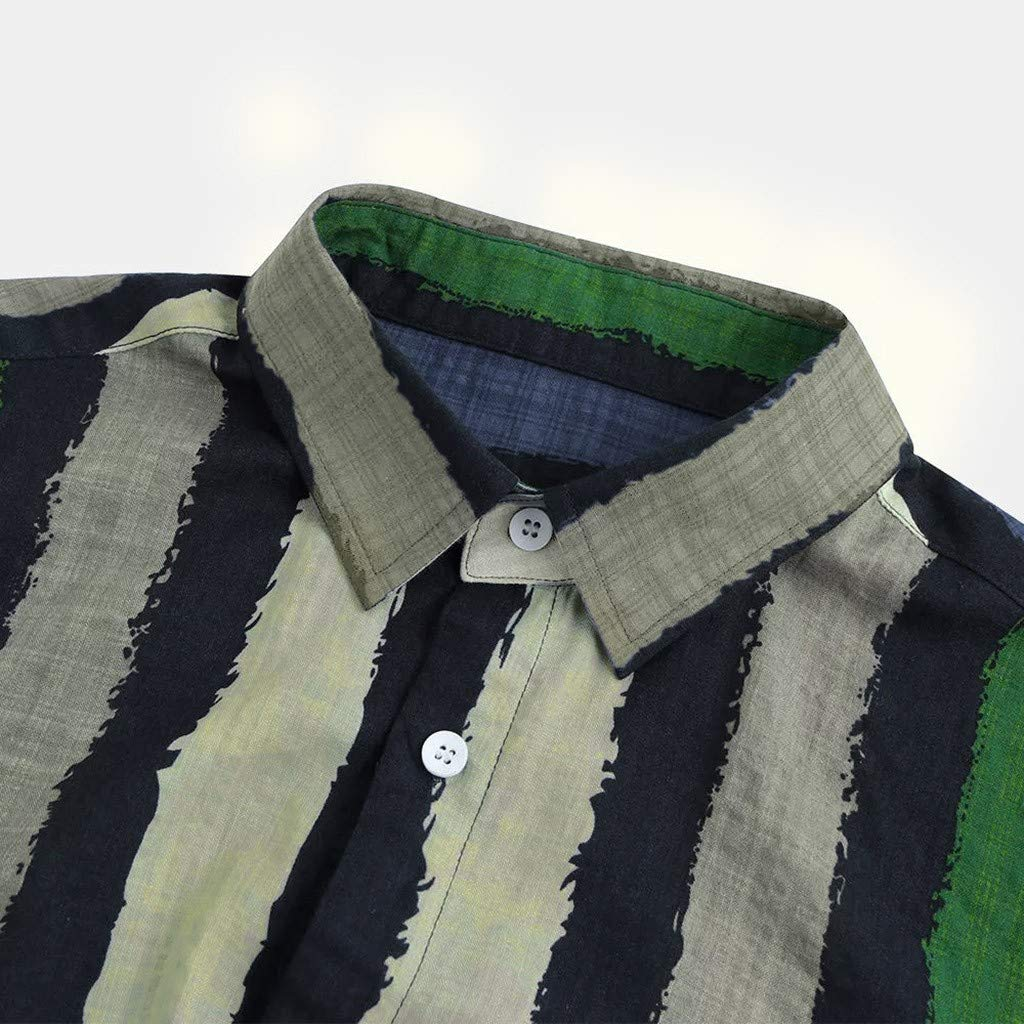 Camisas Hombre VPASS Verano Manga Corta Impresi/ón a Rayas Moda Diario Casuales algod/ón T-Shirt Blusas Camiseta Jaspeada de Cuello Redondo para Hombre Suave b/ásica Camiseta