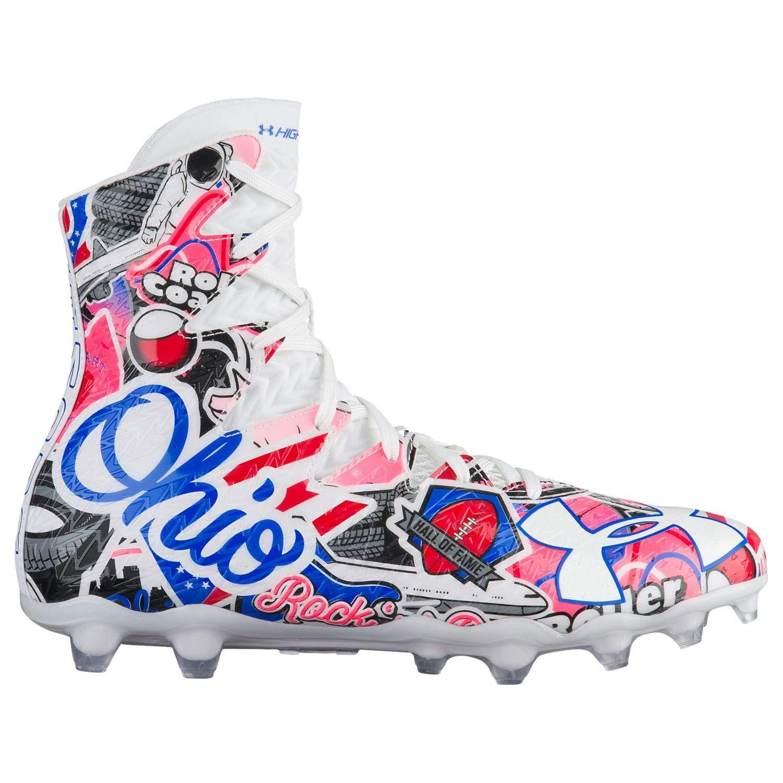 bc061d570cd Under Armour Men s Highlight MC LE Ohio Football Cleats 9.5 M US White   Amazon.com.au  Fashion