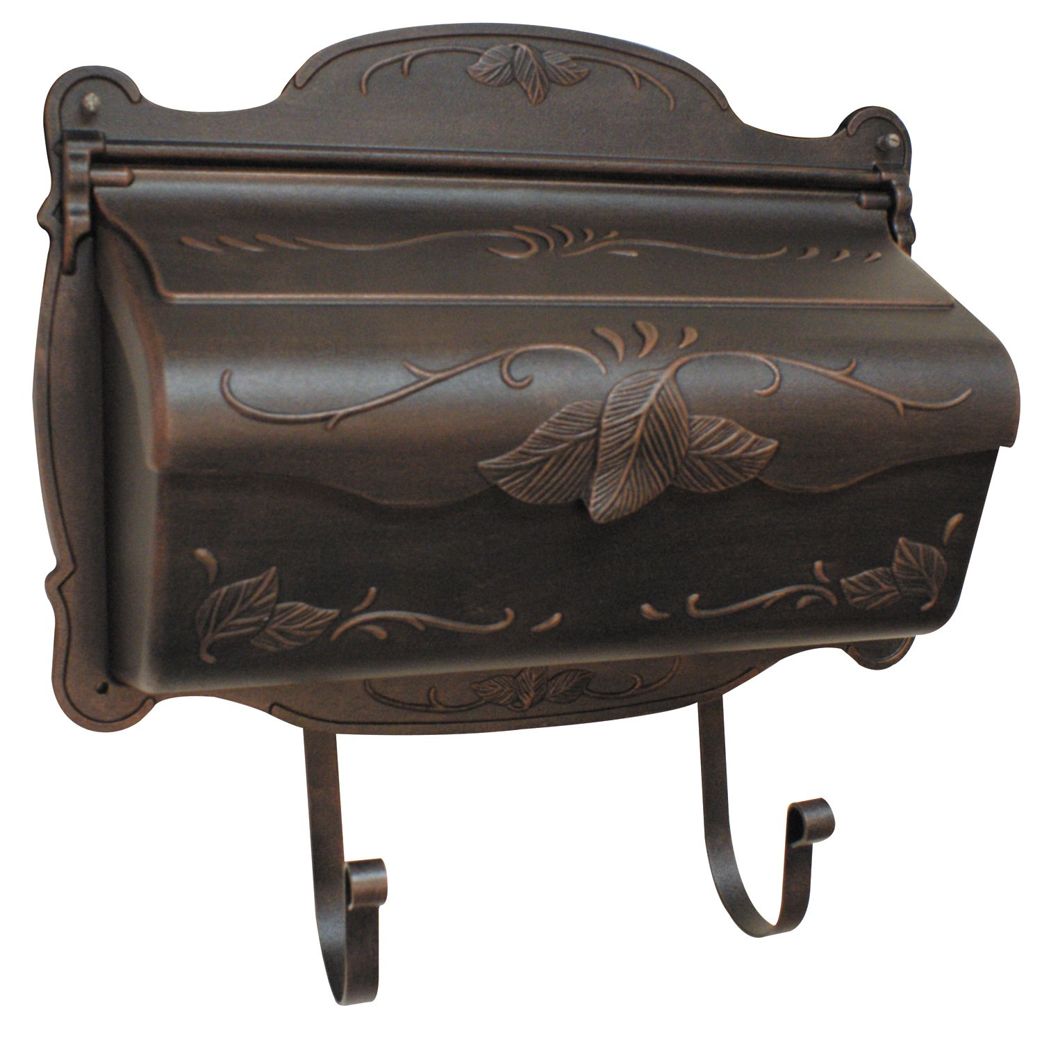 Special Lite Products Shf-1001-CP Floral Horizontal Mailbox, Copper