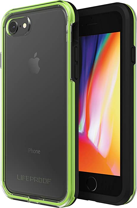 Lifeproof SLAM SERIES Case for iPhone SE (2nd gen - 2020) and iPhone 8/7 (NOT PLUS) - Retail Packaging - NIGHT FLASH (CLEAR/LIME/BLACK)