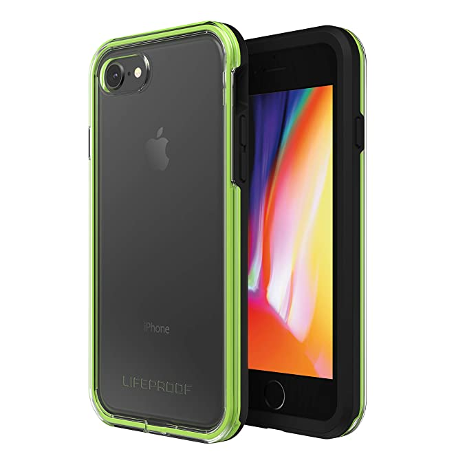 low priced 585d8 4467b Lifeproof SLAM Series Case for iPhone 8 & 7 (ONLY) - Retail Packaging -  Night Flash (Clear/Lime/Black)
