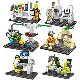 ミニ フィギュア(ミニフィグ)科学者シリーズ 研究者と実験装置 8体 セット レゴ(LEGO) 対応 互換