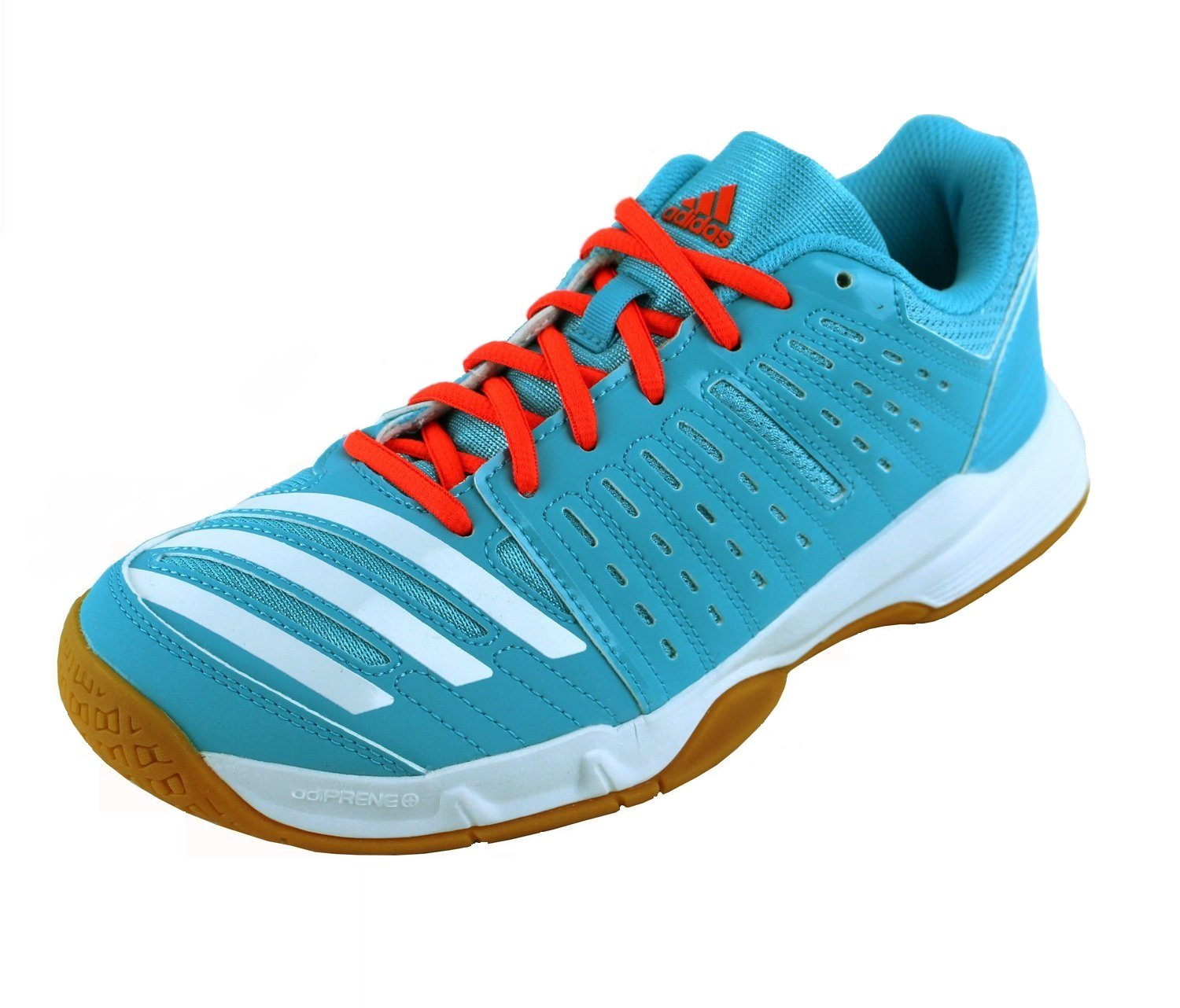 Adidas Essence Women's Indoor Court Shoes Bright Cyan Blue (7)