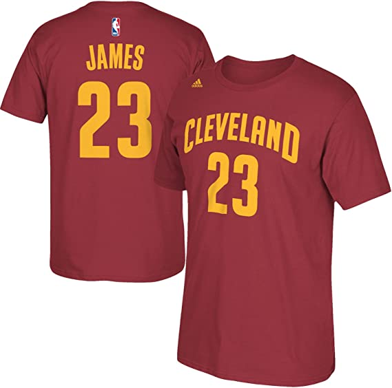 Outerstuff NBA Youth 8-20 Performance Game Time Team Color Player Name and Number Jersey T-Shirt - Lebron James