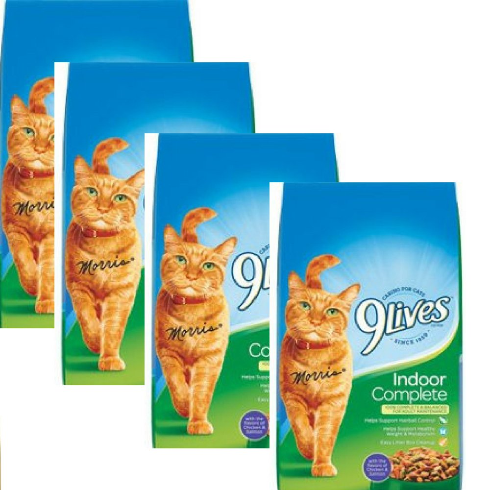 Pack of 4 9Lives Indoor Complete Dry Cat Food 20-Pound WLM (Pack of 4)