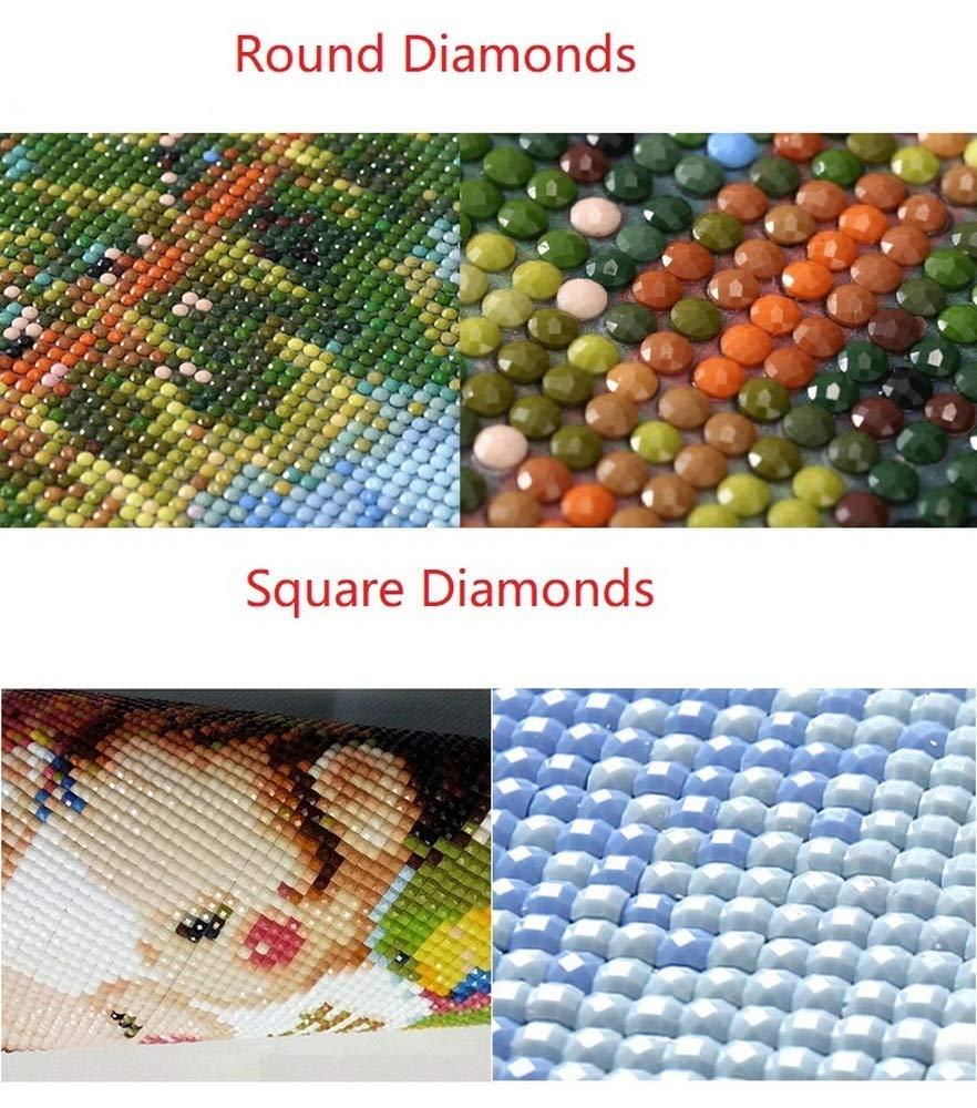 Hescn Diamond Painting Kit Completo Drill for Home Wall Decor 5D DIY Sunset Seascape Mosaici Punto Croce Diamante Ricamo Artigianato Artistico,Diamante Tondo,40X20Cm