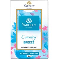 Yardley Country Breeze Compact Perfume, sparkling freshness all day, fruity, floral, amber and musk, on-the-go pack, 18ml