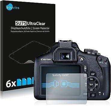 savvies Protector Pantalla Compatible con Canon EOS 2000D (6 ...