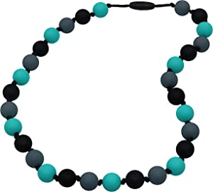 Chew Necklace for Sensory, Oral Motor Aide Autism Chewable Jewelry for Boy and Girls - Calms Kids and Reduces Biting/Chewing/Fidgeting Anxiety Silicone Chewy Toys