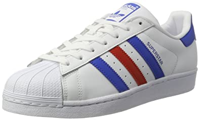 adidas Superstar, Chaussures de Tennis Homme, Blanc Cassé (Ftwwht/Blue/Red