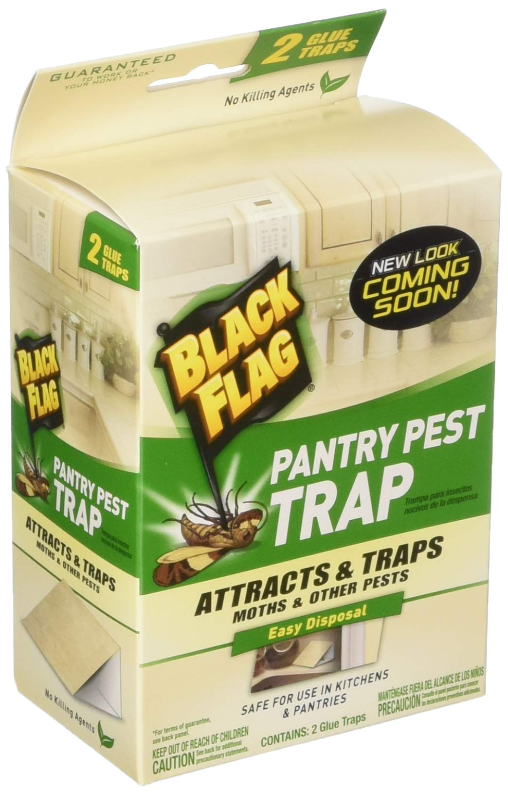 Black Flag Pantry Pest Traps - 8 Total(4 Packages with 2 Traps Each) by Black Flag