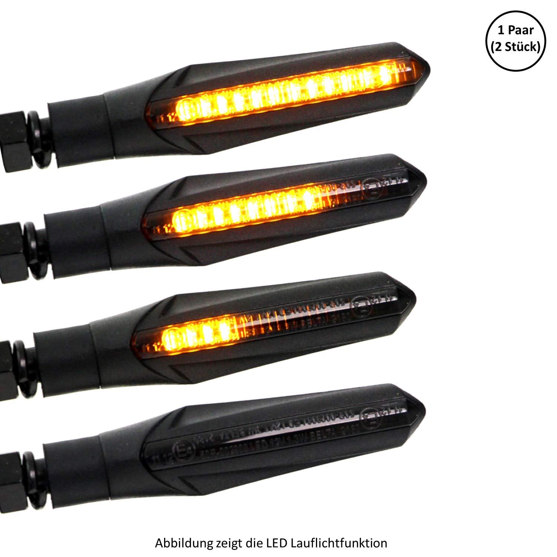 Indicatore di direzione a LED universale per moto e scooter a LED ECE omologato effetto corsa
