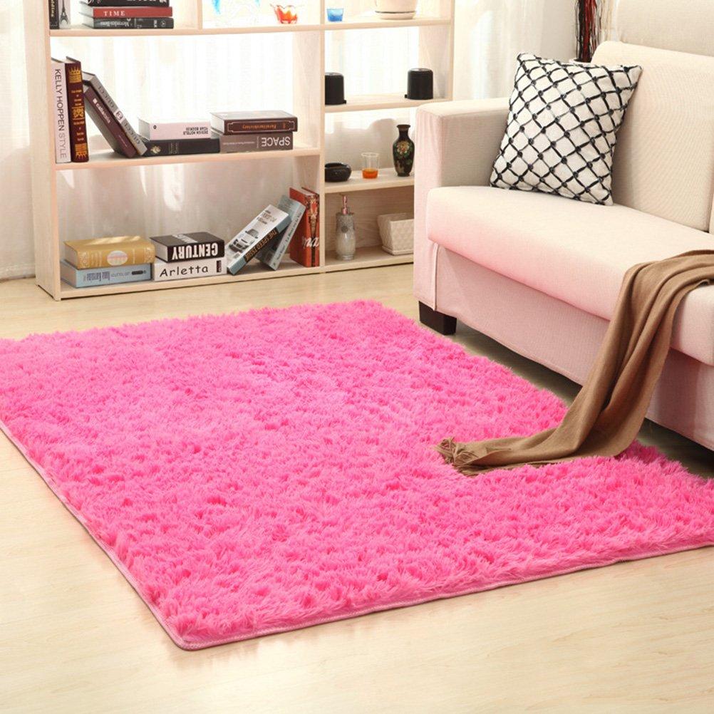 Rosa Roja Alfombras Modernas y Suaves Alfombras cuadradas para ni/ños Juego Decorador para el hogar Alfombra para el Piso Alfombra Sala de Estar Dormitorio 50x80cm