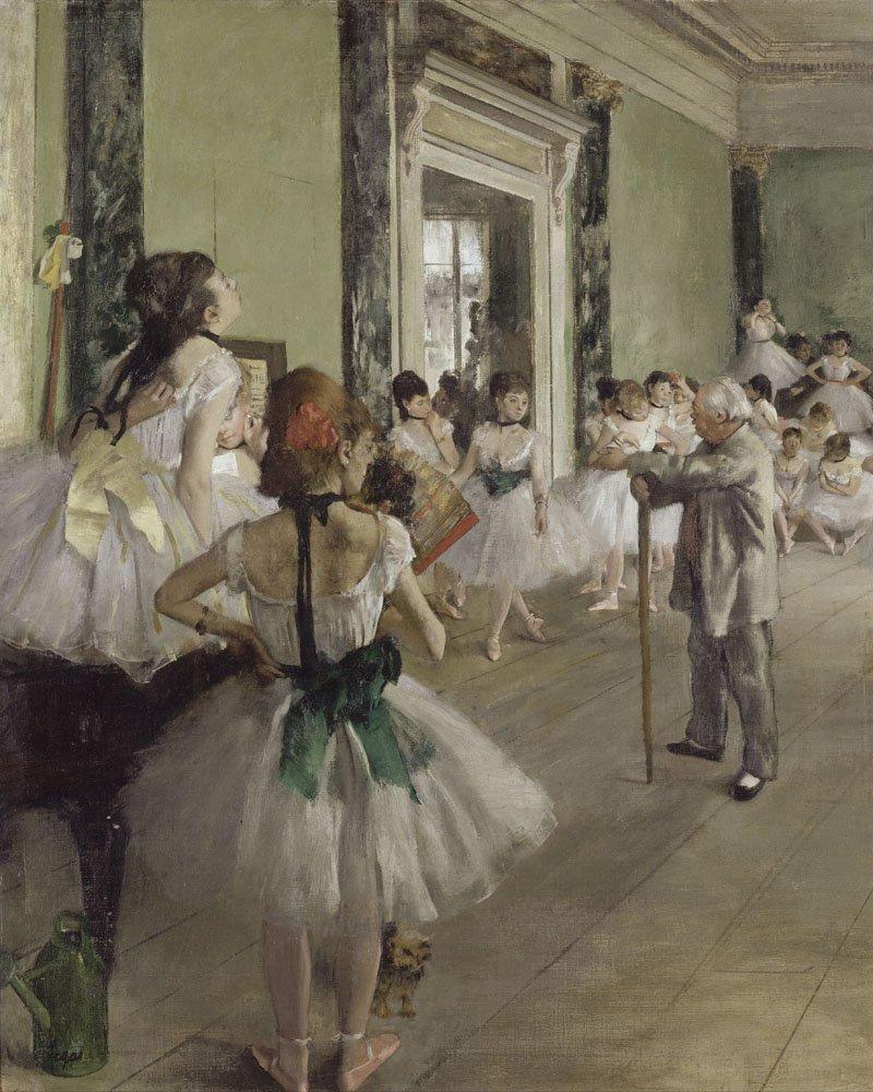 Oil Painting Reproductions on Canvas Prints,High definition print-The Dance Class (La Classe de Danse) by Edgar Degas