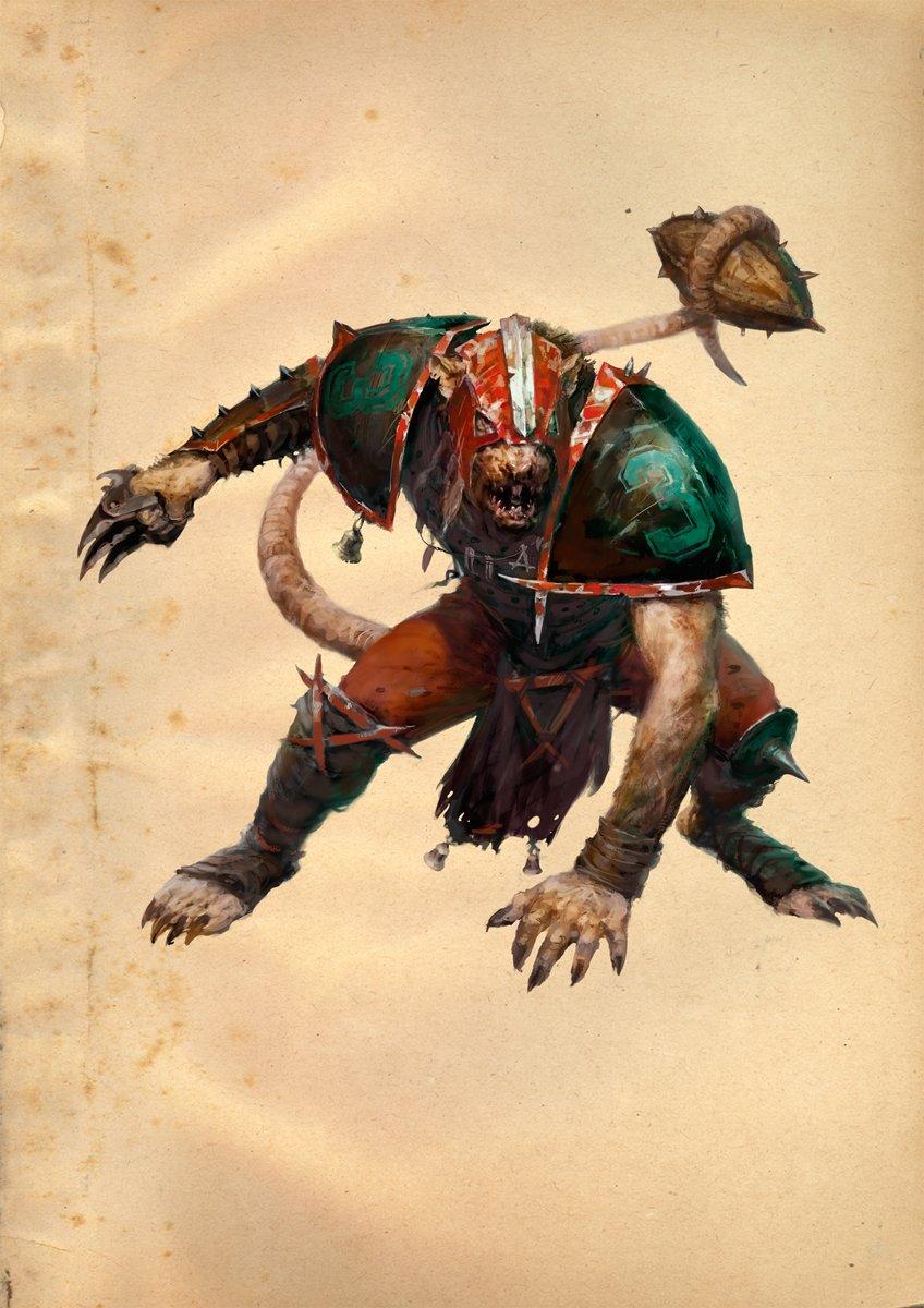 Warhammer Art Blood Bowl Skaven Removable Canvas Poster Official ...