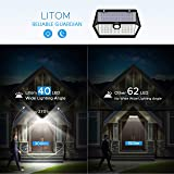 LITOM Solar Lights Outdoor, 40 LED Wireless Wide