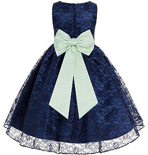 da5aa0c50 ekidsbridal Navy Blue Lace Flower Girls Dress Toddler Girl Dresses Junior  Bridesmaid Dress Formal Gown 163T