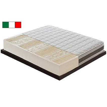 Materasso Lattice Pro E Contro.M D Materasso In Lattice Altezza 21 Cm Con 7 Aree Diverse 100 Latex Ortopedico Rivestimento Rimovibile Ergonomico Antibatterico
