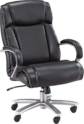 Safco Big and Tall High Back Rolling Swivel Task Desk Chair Padded Arm