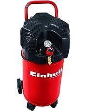 Einhell Kompressor TC-AC 200/30/8 OF (1.100 W, max. 8 bar, 30 l-Tank, öl-/servicefreier Motor, stehende Bauweise, Manometer + Schnellkupplung, Räder + Haltebügel, vibrationsgedämpfte Standfüße, Rückschlag- und Sicherheitsventil, Entwässerungshahn)
