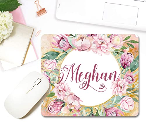 Burgundy Personalized Mouse Pad Office Decor For Women Coworker Gift Personalized Gifts Office Supplies Office Desk Accessories