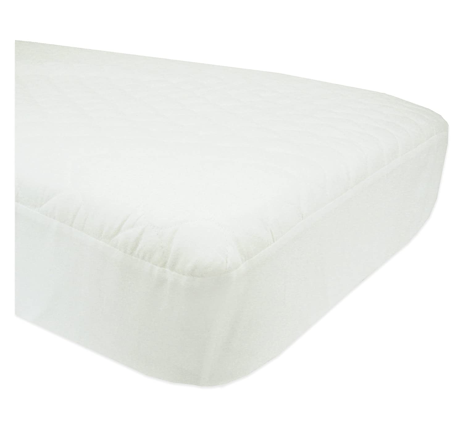 amazoncom abc waterproof quilted cribtoddler bed matress padfitted white crib mattress cover waterproof baby