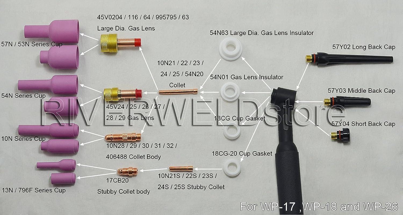 Gaslinse SET 3,2 mm WIG-TIG 17//18//26