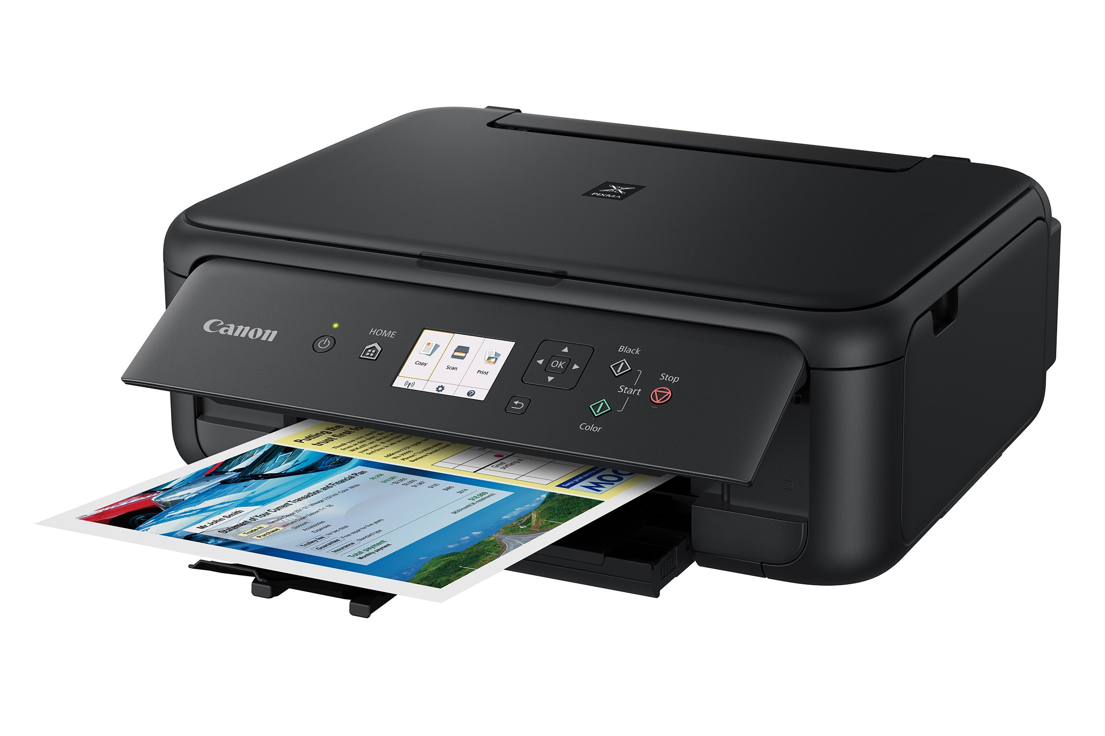 Canon TS5120 Wireless All-In-One Printer with Scanner and Copier: Mobile and Tablet Printing, with Airprint(TM) and Google Cloud Print compatible, Black by Canon (Image #2)