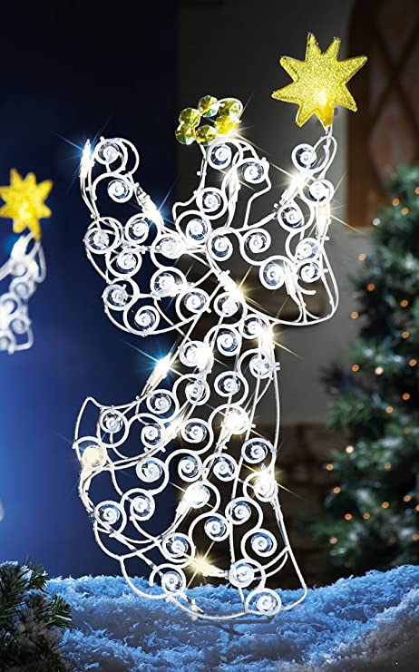 light up holiday angel outdoor christmas decoration - Amazon Uk Outdoor Christmas Decorations