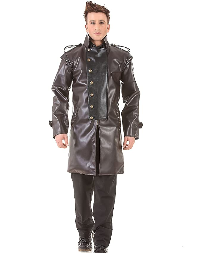 Steampunk Men's Coats Military Steampunk Victorian Gothic Mens Costume Trench Coat $104.95 AT vintagedancer.com