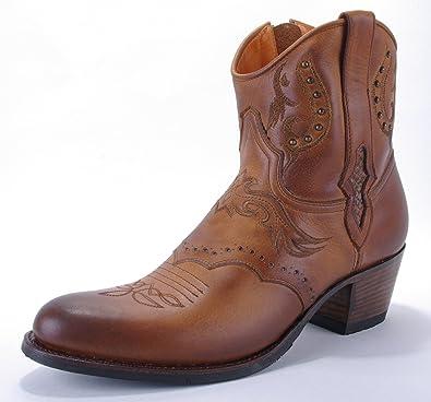 Cowboy Stiefel Bestickt Sendra Kurzstiefel Boots Damen Braun SzpMVUqLG