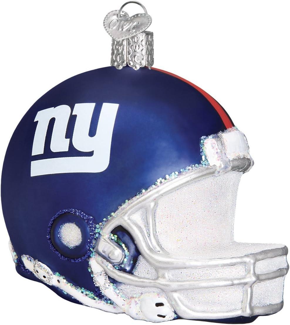 Old World Christmas New York Giants Glass Blown Ornaments for Christmas Tree Helmet