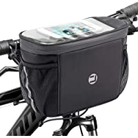 Bike Handlebar Insulated Bag, Bike Front Phone Bag Cooler Storage Pouch with TPU Touch Screen Insulation Bicycle Frame…