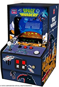 My Arcade Micro Player Mini Arcade Machine: Space Invaders Video Game, Fully Playable, Collectible, Color Display, Speaker, Volume Buttons, Headphone Jack, Battery or Micro USB Powered