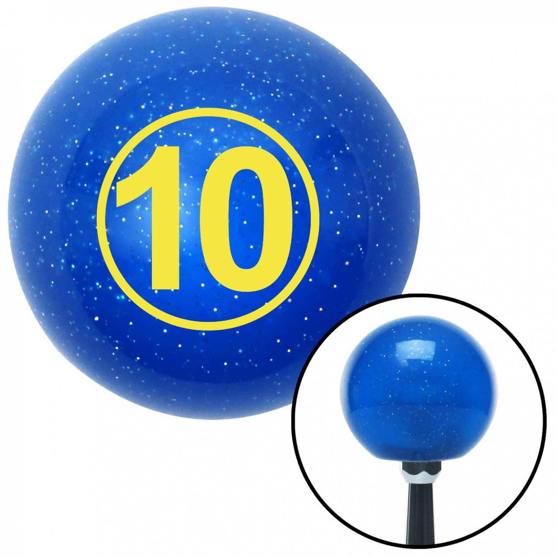 Yellow Ball 10 American Shifter 22398 Blue Metal Flake Shift Knob with 16mm x 1.5 Insert