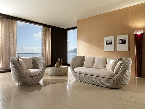Salotto Completo In Rattan.Maisonoutlet Set Salotto Completo Movida 3 Pezzi Per