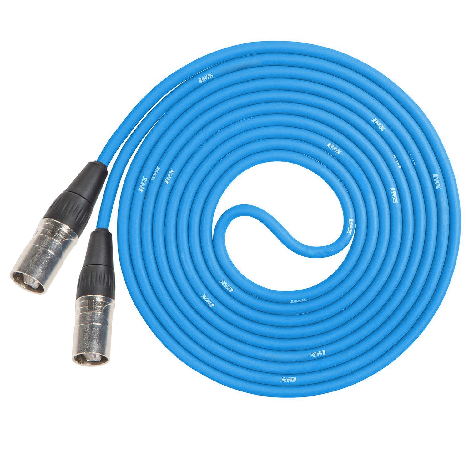 LyxPro CAT6 Shielded Ethercon RJ45 Cable - 30' Feet Blue