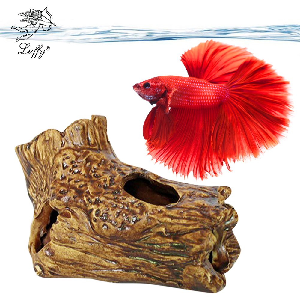 Amazon Sungrow Betta Log Hollow Log For Fish To Hide Play
