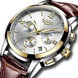 Mens Fashion Business Quartz Watch,LIGE Classic Casual Analogue Sports Wristwatch