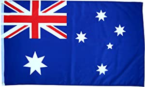 High Supply 3x5 Australia Flag with 100% Polyester Fabric, Two Brass Grommets, and Double Stitched Edges, Flag of Australia 3x5 Australian Flag