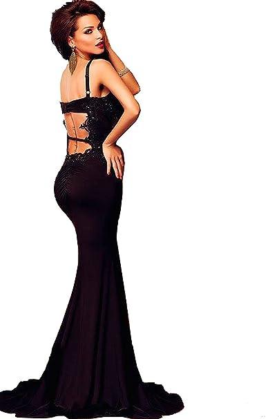 ZARINA Vestido Plisado de Mujer/Vestido de Novia modelo 60391 color negro (UNICO,