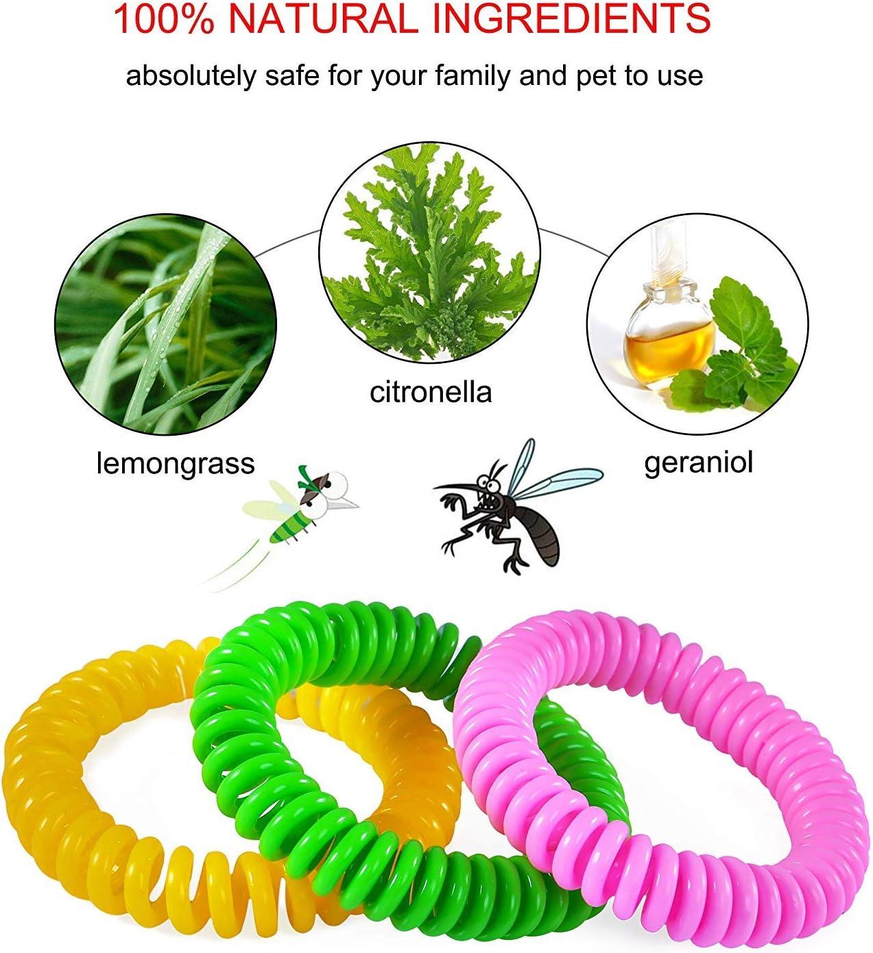 Pulsera Mosquitos Antimosquitos Natural No T/óxica de Protecci/ón contra los Insectos a Largo Plazo para Ni/ños y Adultos Pulseras Repelentes de Mosquitos 15 Piezas,30 Parche repelente de mosquitos