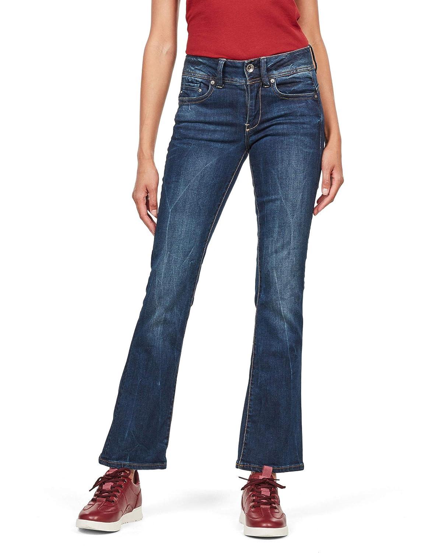 TALLA 29W / 28L. G-STAR RAW Midge Saddle Mid Waist Bootcut Jeans para Mujer