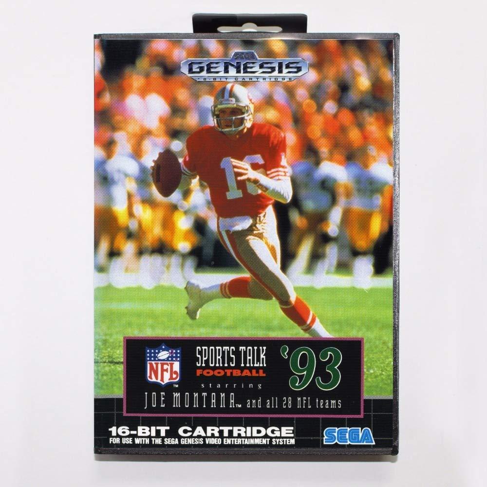 ROMGame Sports Talk Football '93 Starring Joe Montana Game Cartridge 16 Bit Md Game Card With Retail Box For Sega Mega Drive For Genesis