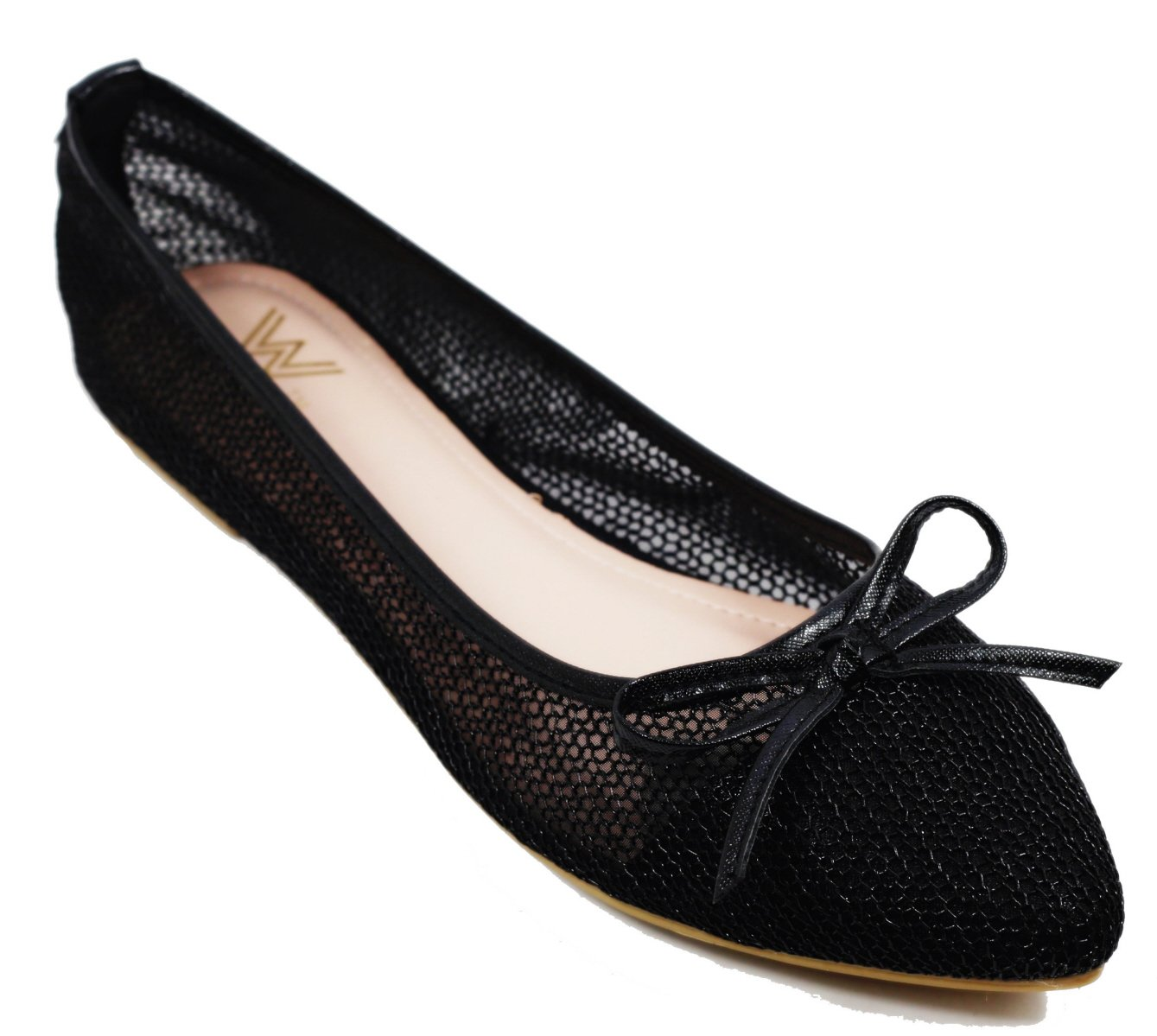 Walstar wedding shoes for bride Flat Shoes Mesh Flat Shoes B073WHSS3R 8.5 B(M) US|Black